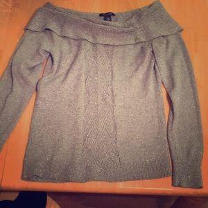Off shoulders sparkling sweater